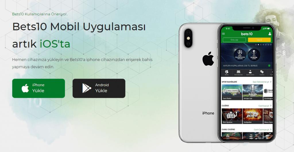 bets10 mobil uygulaması